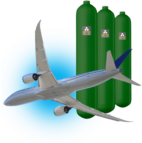 Cylinders for aviation portable oxygen systems