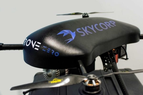Hydrogen powered drone with lightweight composite fuel cylinders